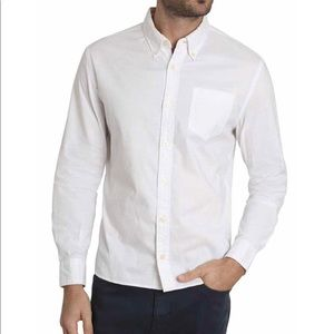 Jachs White Stretch Oxford Shirt